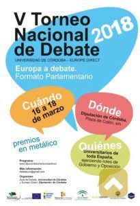 V torneo nacional de debate universidad de Córdoba - Europe Direct Cartel